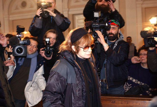 Nadine Trintignant lors du procès de sa fille Marie.